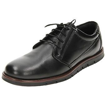 Dr Keller Black Leather Lace Up Shoes