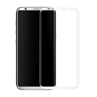 Premium of 0.3 mm bent tempered glass white film for Samsung Galaxy S8 G950 G950F