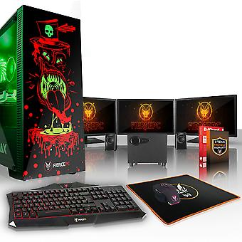 Felle GOBBLER Gaming PC, snelle Intel Core i7 7700 4.2 GHz, 1 TB SSHD, 16 GB RAM, RTX 2080 8 GB