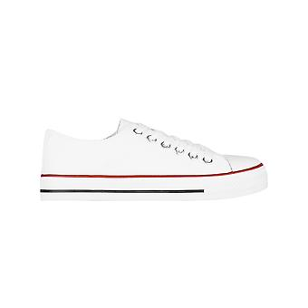 KRISP kvinder plain lærred Low top trænere mode lace up sneaker pumper flade sko 3-8