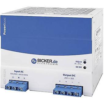 بيكر Elektronik BED-48024 السكك الحديدية شنت PSU (DIN) 24 V DC 20 A 480 W 1 x