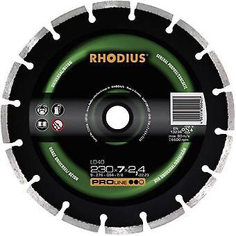 Diamond cut-off wheel, segmented Rhodius 394136 Diameter 115 mm Inside diameter 22.23 mm 1 pc(s)