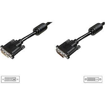 Digitus DVI Kabelverlenging 3,00 m AK-320200-030-S schroefbaar, incl. ferrietkern Zwart [1x DVI stekker 25-pins - 1x DVI-aansluiting 25-pins]