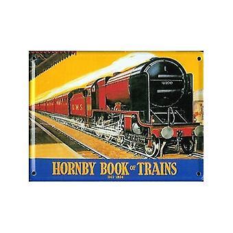 Hornby junat 1933-34 metalli postikortti / Mini kirjautuminen / jääkaappimagneetti