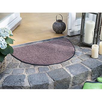 Halbrunde Salonloewe Fußmatte waschbar 50 x 75 cm rutschsicher