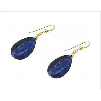 Les boucles d'oreilles Boucles d'oreilles lapis lazuli lapis lazuli HELENE or plaqué
