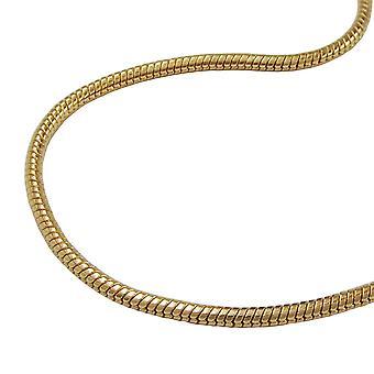 Serpente catena 1, 5mm placcato oro 70cm AMD