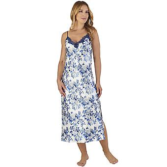 Slenderella GL2772 Women's Floral Satin Floral Night Gown Loungewear Nightdress