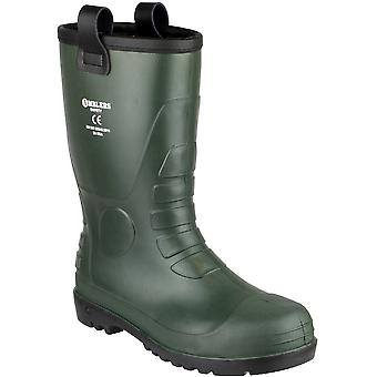 Amblers Safety Mens FS97 PVC PVC Waterproof Safety Rigger Boots Green