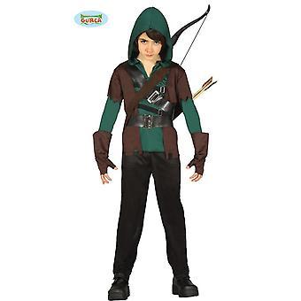 Guirca traje fantasia infantil de Arqueiro Robin Hunter
