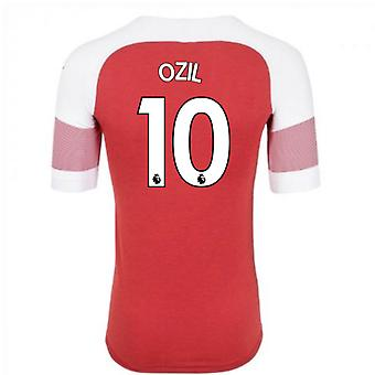 2018-2019 Arsenal Puma Home Football Shirt (Ozil 10) - Kids