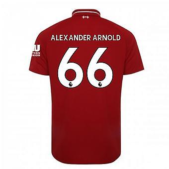 2018-2019 Liverpool hjemme fodbold Shirt (Alexander Arnold 66) - børn