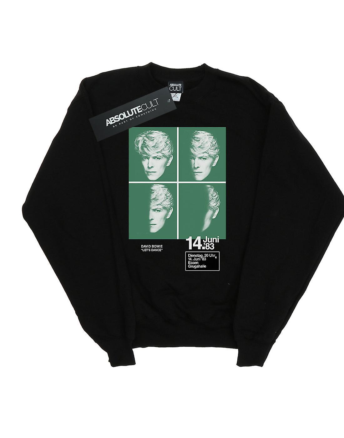 David Bowie Girls 1983 Concert Poster Sweatshirt