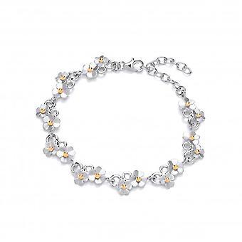 Cavendish französische Silber Diddy Gänseblümchen Armband