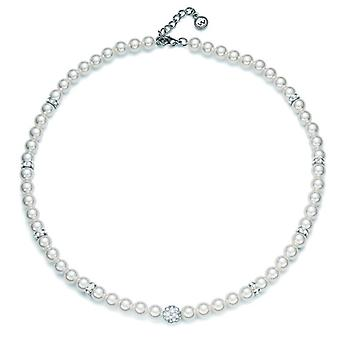 Oliver Weber Collier Silk Rhodium Crystal Pearl White