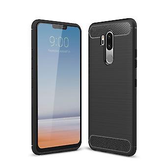 LG G7 ThinQ carbon fiber shell-zwart