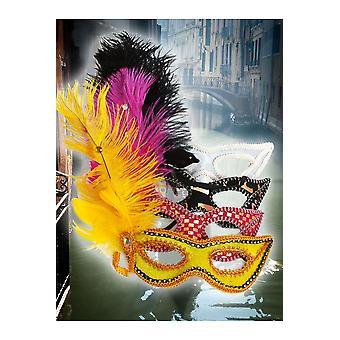 Masker venetianske maske gul