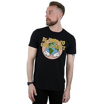 Disney miesten Mikki Hiiri ole kiltti meidän planeetta t-paita