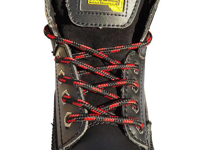 Black & Red Work Boot Laces