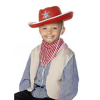 Cowboy Hat Felt.Childs Red.