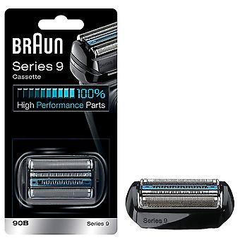 Braun 90B Series 9 Electric Shaver Replacement Foil and Cassette Cartridge - Black