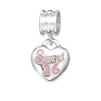 Herz-Sweet 16-925 Sterling Silber Plain Beads - W11178X