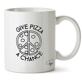 Hippowarehouse Give Pizza A Chance Printed Mug Cup Ceramic 10oz