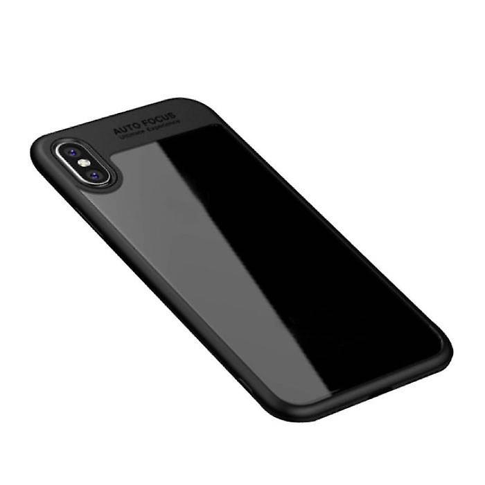 Stuff Certified ® iPhone 7 Plus - Auto Focus Armor Case Cover Cas Silicone TPU Case Black