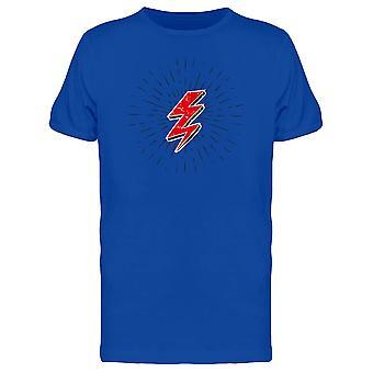 Red Lightning Bolt Tee Men's -Image by Shutterstock