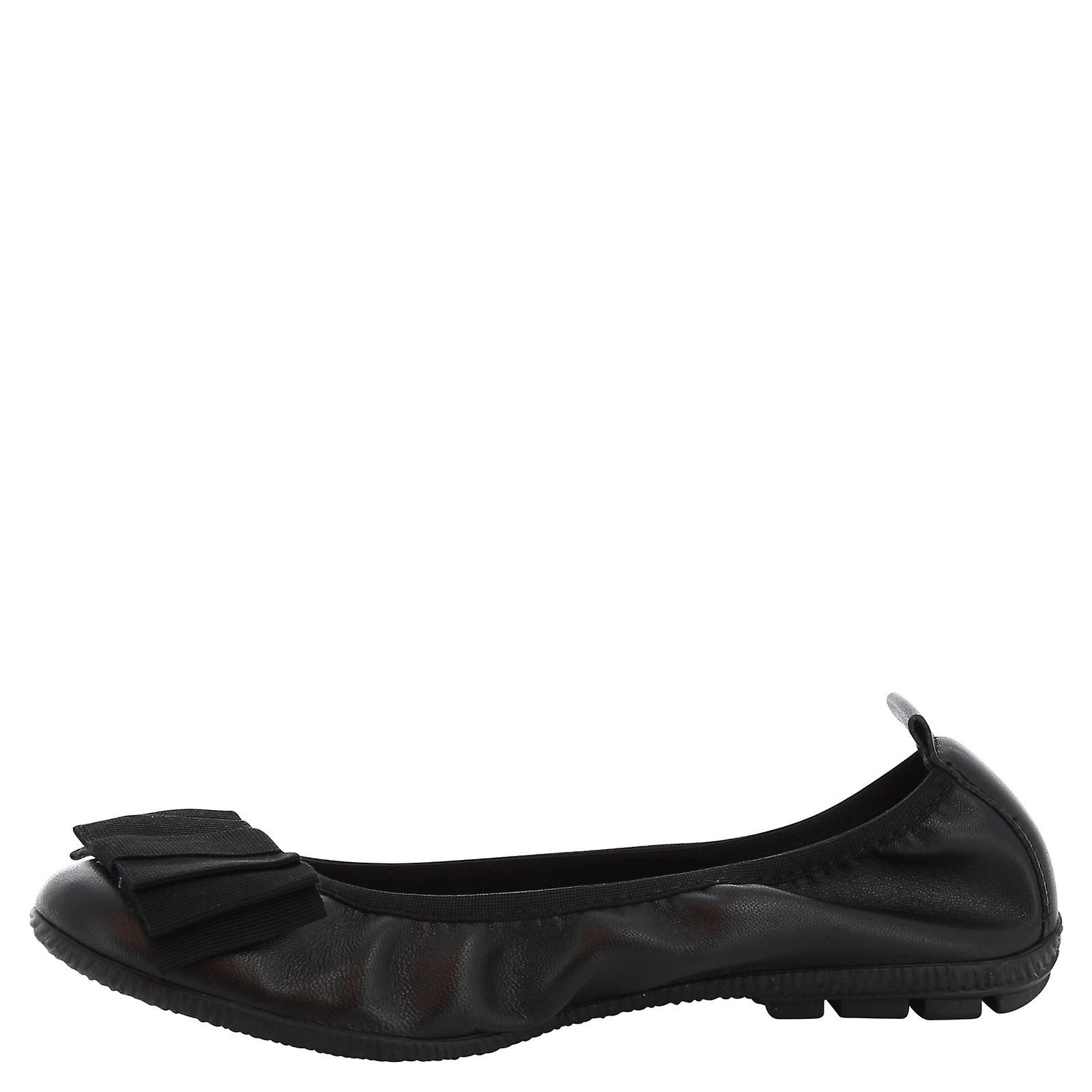 Leonardo Shoes Woman's handmade ballerinas in black leather