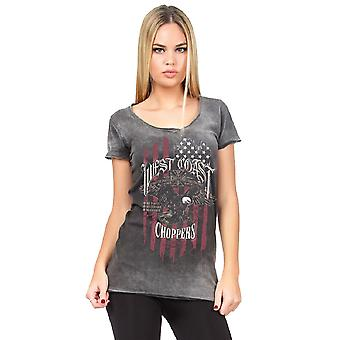 West Coast choppers ladies T-Shirt-Eagle
