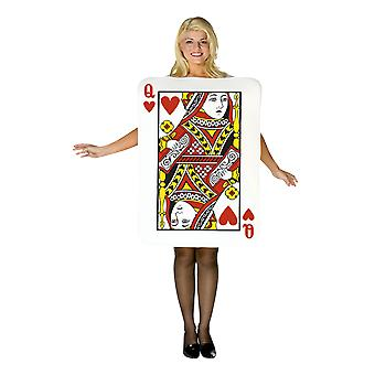Womens Queen of Hearts Playing Card Fancy Dress Costume