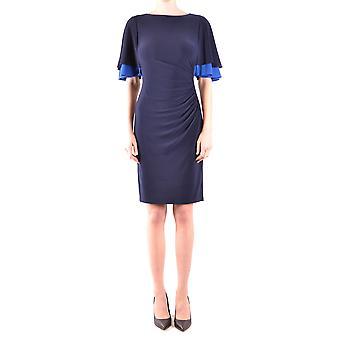 Ralph Lauren Ezbc037173 Damen's Blaues Polyesterkleid