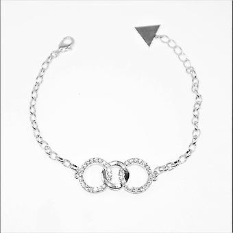 VIP Silver Plated Triple Circles Bracelet