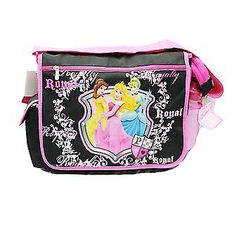 Messenger Bag Disney Princess Black w/Water Bottle School Bag 35350
