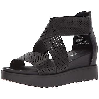 Steven by Steve Madden Womens NC-Klein Leather Open Toe Casual Platform Sandals