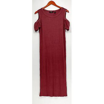 Du Jour Dress Scoop Neck Cold Shoulder Rib Dark Pink A308993