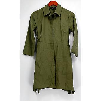 Dennis Basso XXS túnica frontal con botón de tiburón hem verde A262713