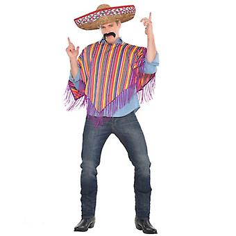 Amscan Poncho Mexican Adult Costume (Babies and Children , Costumes)
