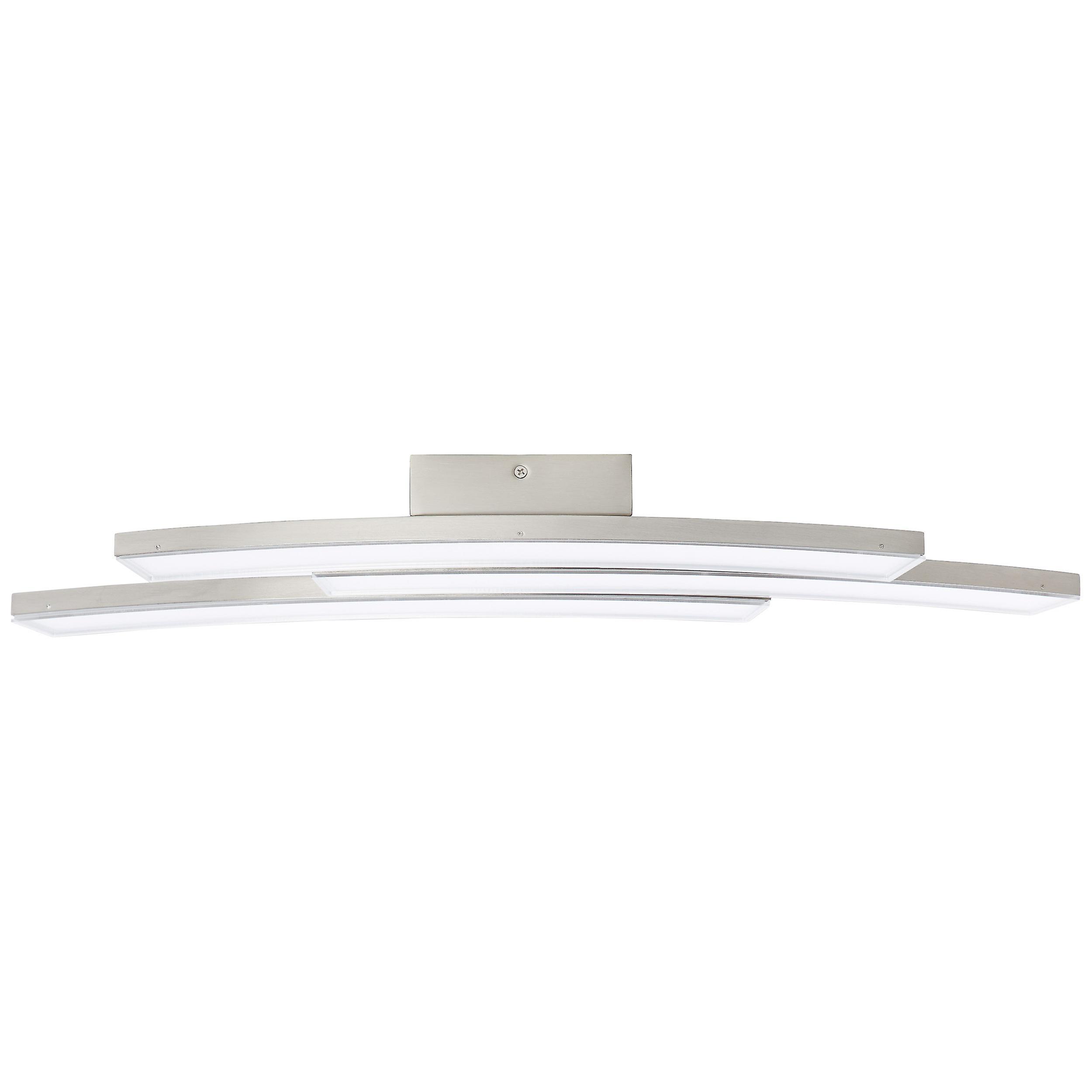 Brilliant Lampe Elaine LED Wand- und Deckenleuchte 3flg nickel matt