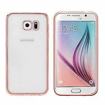 Samsung S7 Fall Ros' Gold - Bumper Backcover klar