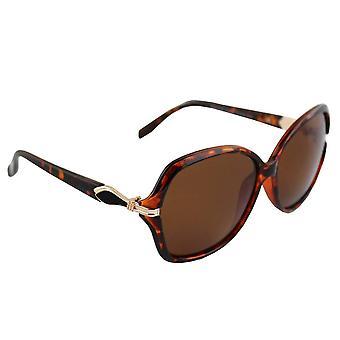 Óculos de Sol Senhoras Polaroid Oval - Leopardo Marrom com brillenkokerS326_3 grátis