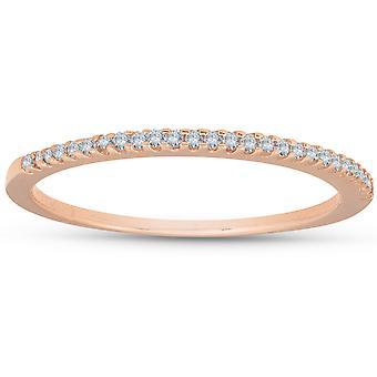 1/6ct Diamond Ring 14K Rose Gold