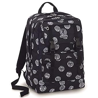 Backpack Duffy Invicta - BRUSHED DOTS - Black - 30 Lt - Double Compartment - For Portable - school and leisure