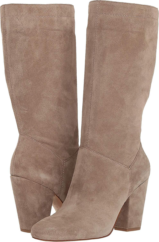 1.STATE Kobiety Maribell Skórzane Migdałowe Toe Mid-Calf Fashion Boots GFrcQ