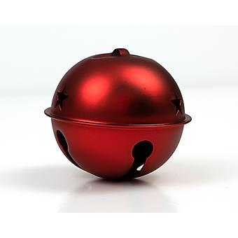65mm Matt Red Jingle Bell with Star Cutouts for Christmas Crafts