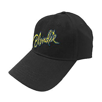 Blondie Baseball Cap Eat to the Beat Patch Band Logo Official Black Strapback