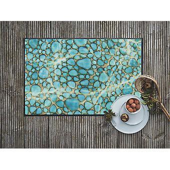 Salonloewe Doormat Turquoise Stone 50 x 75 cm Washable Dirt Mat