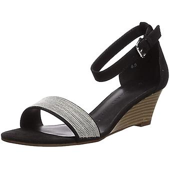 Athena Alexander Women's Enfield Wedge Sandal Grey Suede 6.5 M US