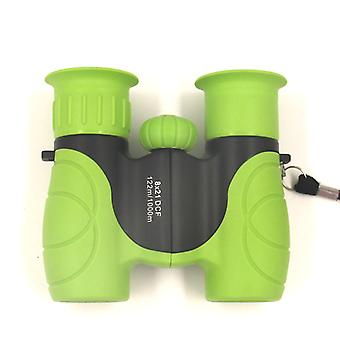 Kids Binoculars 8x21 Compact Mini Binoculars BK7 Roof Prism Outdoor Gifts for Children Toys for Boys and Girls (Green)